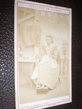CDV photograph woman in Swiss costume by Braun Dornach Switzerland  c1870s