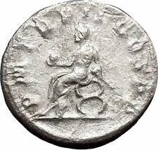 Philip I 'the Arab' seated left on curule seat Globe Silver Ancient Coin i48770