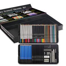 75 Set Professional Drawing Kit Art Supplies Lot Colored Pencils Sketching Kit