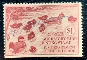 US Federal Duck Stamps SC#RW8 Used CV:$50