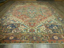 C1930 Antique Veg Dyies Karache Serapi Heriz Viss 8.3x11.2 Estate Sale Rug