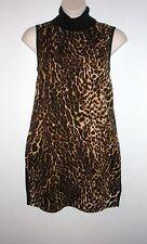 NWT MSRP $198  LAUREN RALPH LAUREN Ocelot-Front Turtleneck Dress, Leopard, LARGE