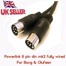 8 Pines DIN MK2/3 Powerlink Cable conecta Beolab altavoces a de Bang Olufsen 2.0 Mts