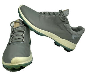 Ecco Golf Biom Gore-Tex Natural Motion Gray Soft Cleats Shoes 10 Extra Width