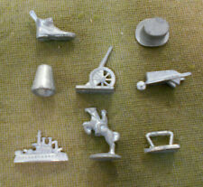 #OO.   EIGHT(8)  MONOPOLY METAL FIGURES