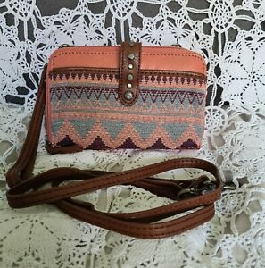THE SAK WALLET/CROSSBODY LEATHER  PRE-OWNED IMMACULATE CONDITION