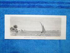 Gravure Année 1862 - Vue du Nil Blanc - Veduta del Nilo Bianco