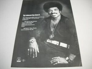 SYL JOHNSON has done it WE DID IT wearing cannabis chain 1973 Promo Poster Ad