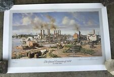 """Michael Blaser Limited Edition Print.""""The Grand Excursion of 1854"""" 270/400 Rare"""