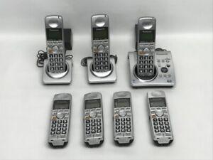 7 Panasonic KX-TGA101S Cordless Telephone Handsets