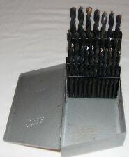 26 PC Jobber Drill Bit Set A to Z Hout Index UTD Bits .234-.413 USA Never Used