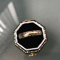 Women's Gold Wedding Ring 9ct Patterned Wedding Band Weight 1.4g Size N Stamped