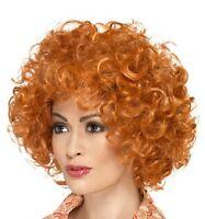 Donna Uomo Zenzero Parrucca Riccia Costume Afro Tipo Annie da Smiffys