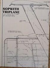 Sopwith Triplane RC plans
