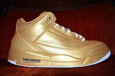 Nike Air Jordan 3 III Gold Custom Yeezy Exclusive 1 OF 1 Size 10.5 9/10 Cond.