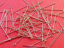 25mm length 24 gauge 0.60mm thickness 14K Gold Filled Eye Pins 24pcs