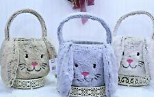 Easter Large Bunny Rabbit Plush Basket & BONUS 3+Brown Gray or Tan NEW  K-56 P