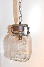 Impressionen Living filigrane Glas Deckenleuchte Industrie Look Rost