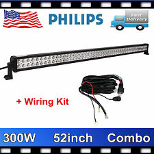 PHILIPS 52Inch 300W Led Light Bar Combo Offroad Lamp Truck Fog 12V24V+Wiring Kit