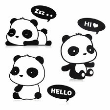 3pcs Panda DIY Switch Sticker Wall Stickers Vinyl Mural Decor Decals Fashion