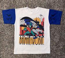 Vintage Batman & Robin Shirt Boys Size 6/7