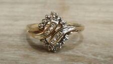 Ladies Genuine Diamond 10k Gold Ring Finger size 7