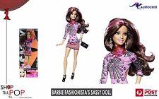 Barbie Fashionista's Sassy Doll Brunette Mix 'n' match Ages 3+ BNIB Mattel
