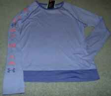 ~NWT Girls UNDER ARMOUR Long Sleeve Shirt! Size YXL Loose Fit Cute:)!