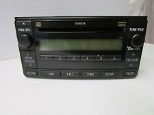Toyota Fujitsu Ten AM/FM/CD/WMA/MP3 Double Din Car Radio ~ 86120-35400