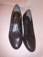 Cole Haan Nikeair Technology Black Leather Work Career Pumps Heels Shoes 6