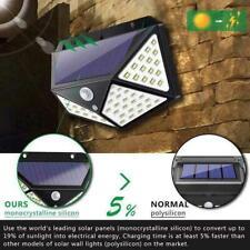 100 LED Solar Power Wandleuchte-Bewegungsmelder Wasserdichte Gartenlampe Neu