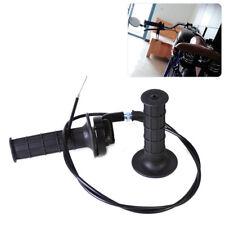 "Pair Black 7/8"" 22mm Motocross Handle Throttle Clamp Hand Grip w/Twist Cable Kit"