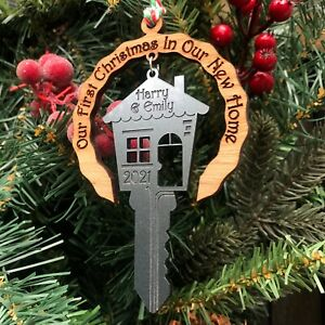Personalised First Christmas In Our / Your New Home Decoration 1st Festive Gift