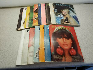 Lot of 16 Playboy Magazines 1965-1966