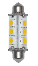 Lampadina a 12 LED 10-15V 3W 3000K Bianca Calda Attacco Siluro # 27550352