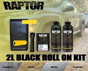 RAPTOR BY U-POL UPOL BLACK BED LINER KIT 2 PACK ROLL ON COATING UTE TUB LINER