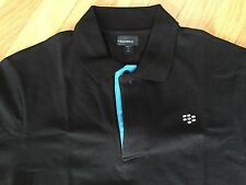 *RARE* BlackBerry (RIM) Logo Polo Shirt M (BLACK) *Promo*SWAG* TeamBlackBerry
