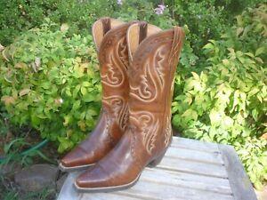 Women's 5.5 B M Ariat Heritage Western X Toe Brown Cowboy Boots 10005908