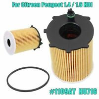 For Citroen Peugeot 1.4 / 1.6 HDI Engine Oil Filter With Gasket 1109AY