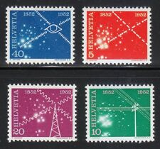 Switzerland 1952 MNH Mi 566-569 Sc 340-343 A century of telecommunications