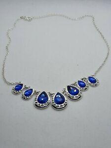 BNIB Stunning Sparkly Avon Necklace with blue stones