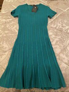 Roberto Cavalli Green Knit Dress Sz IT 40 NWT