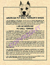 Rules In An American Pit Bull Terrier's House