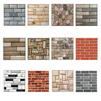 3D Wallpaper Wall Sticker Wall Decor Embossed Brick Simulation Tile Wall Sticker