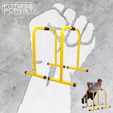 EQUALISER PARALLETTE PARALLEL BAR DIP CHIN UPS HAND STAND PUSH UP GYM DIPPING