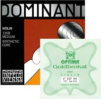 Thomastik Dominant Violin String Custom Set 4/4 With E Goldbrokat, Medium - Ball