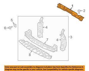 MITSUBISHI OEM 14-15 Mirage Radiator Core Support-Upper Tie Bar 5256B986