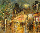 wall art Cafe of Paris oil painting Canvas Giclee Art Print L1980