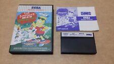 The Simpsons Bart vs Space Mutants ( Sega Master System ) European Version PAL