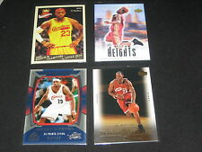 LOT (4) LEBRON JAMES AUTHENTIC COLLECTIBLE NBA BASKETBALL CARDS LEGEND STAR NICE